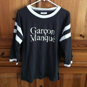 """Madewell Long Sleeve Graphic T """"Garcon Manque"""""""